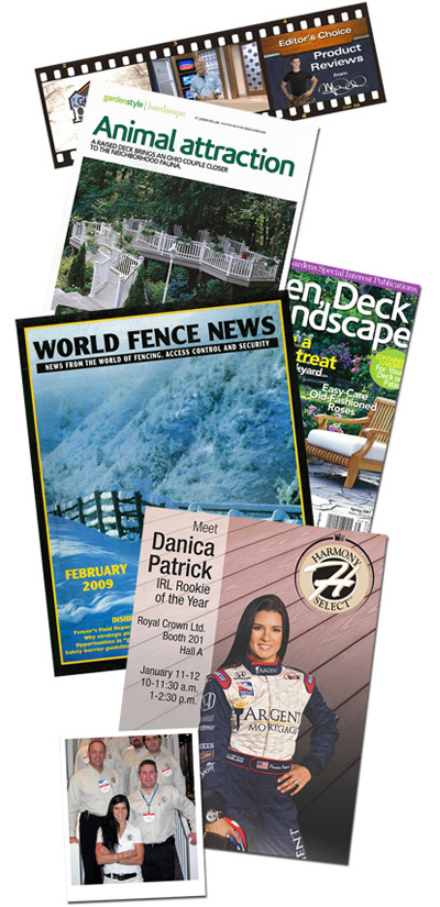 Various magazines promoting Royal Outdoor Products